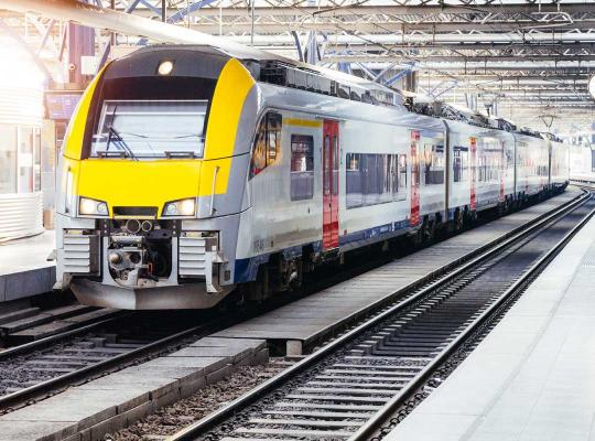 Trein van spoorwegmaatschappij NMBS