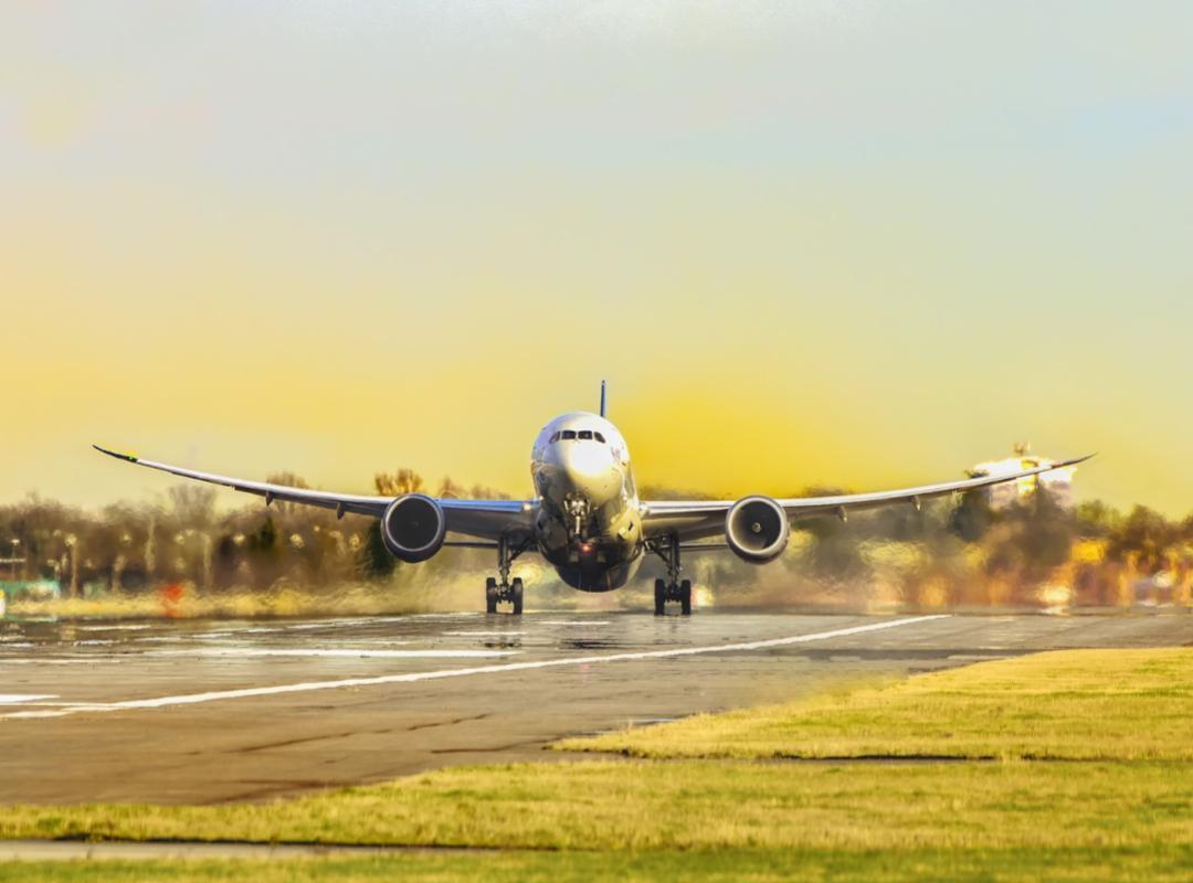 Landing vliegtuig